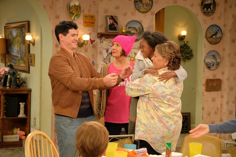 A still from the TV show Roseanne.