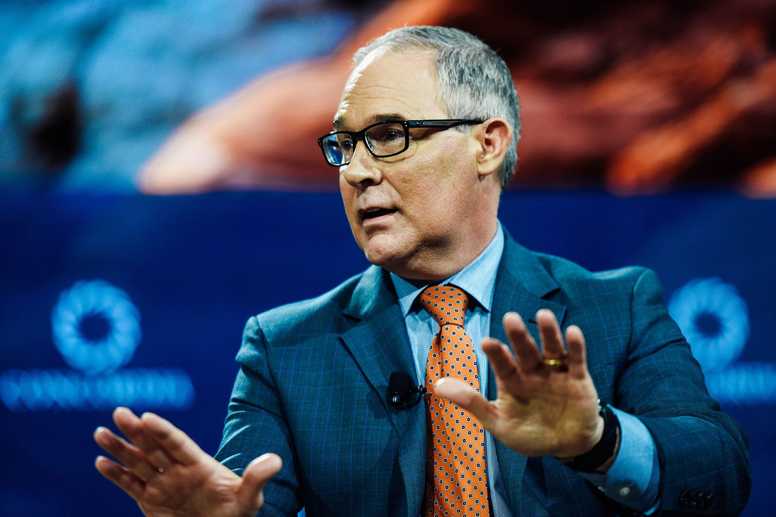Scott Pruitt speaks at the 2017 Concordia Annual Summit on Sept. 19 in New York City.
