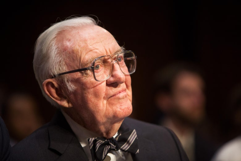 John Paul Stevens, sporting his signature bow tie.