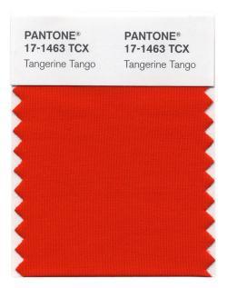 Pantone's Tangerine Tango.
