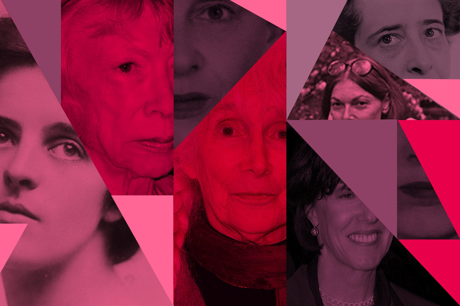 Collage of female authors from Sharp.