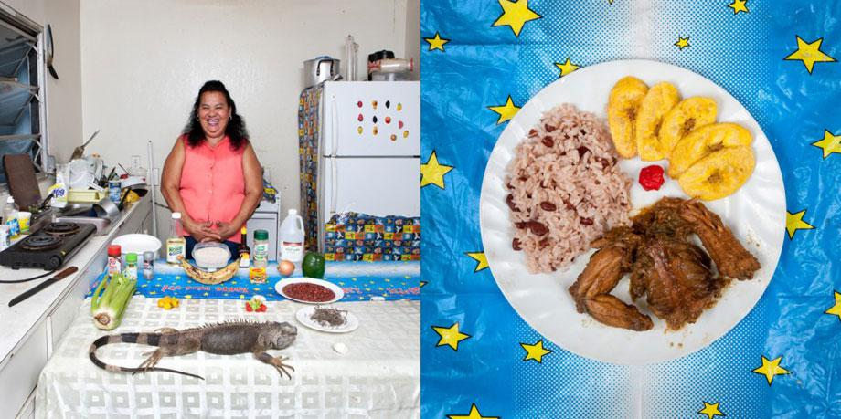 Maria Luz Fedric, 53 years old – Cayman Islands Honduran Iguana with rice and beans