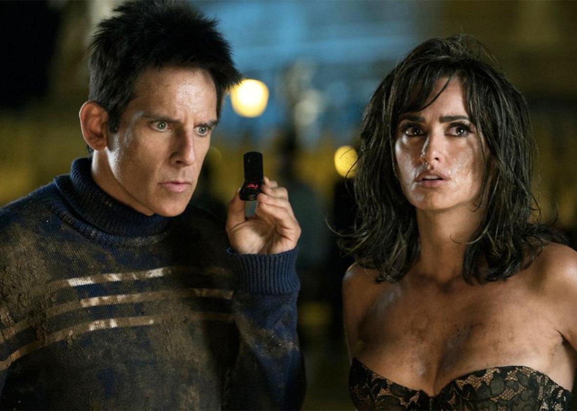 Still of Ben Stiller and Penélope Cruz in Zoolander 2.