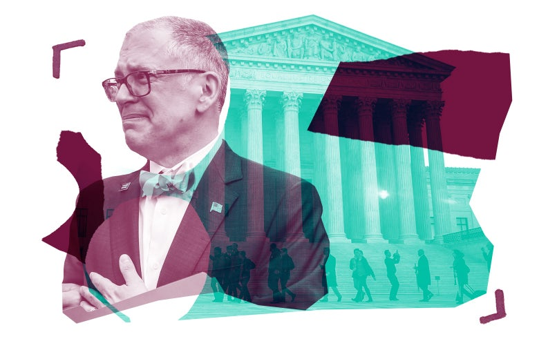 Collage of James Obergefell and the Supreme Court
