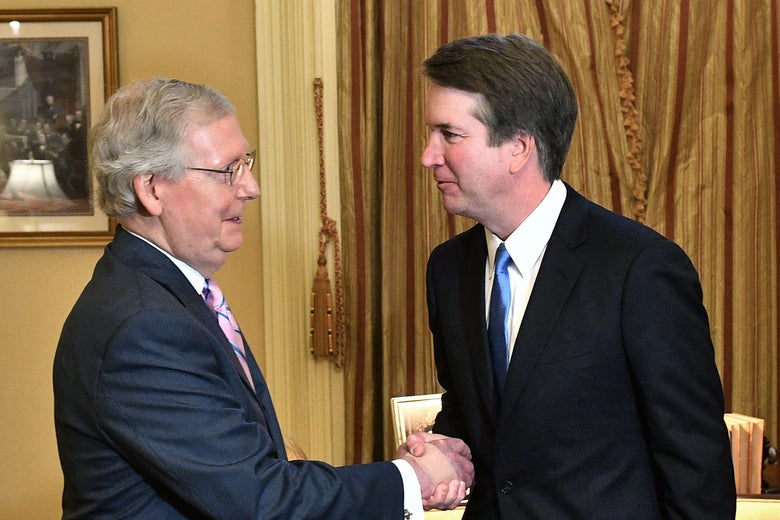 Mitch McConnell and Brett Kavanaugh.