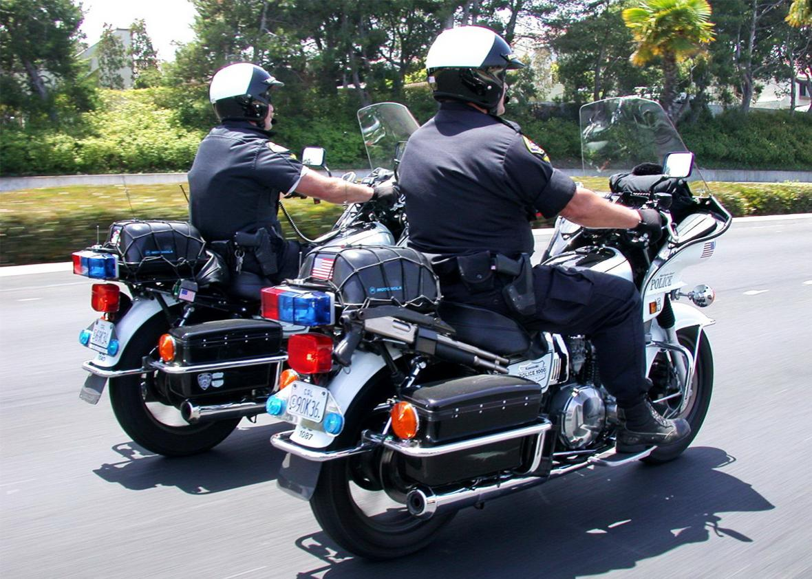 Police in Long Beach, California, Dec. 18, 2008.