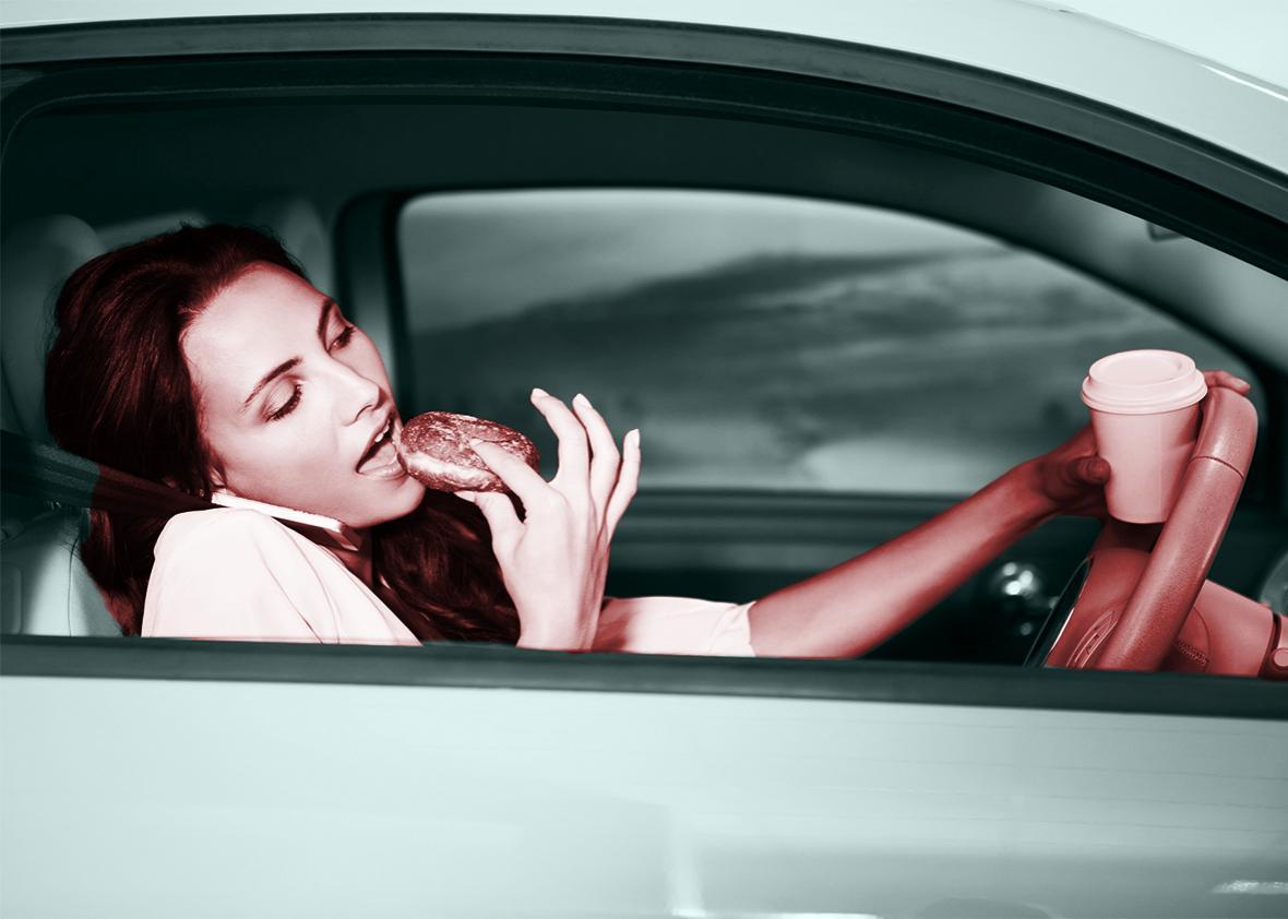 woman car spill.