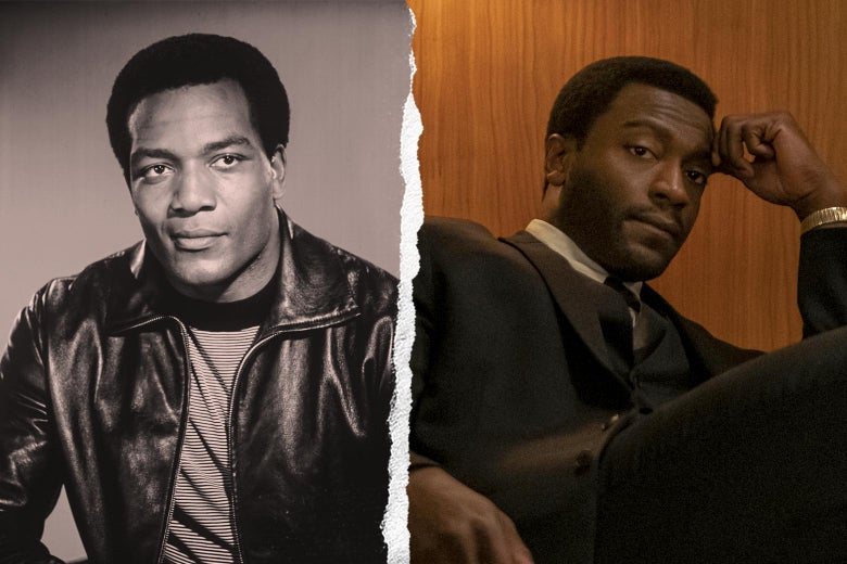 Jim Brown in real life and in the movie.