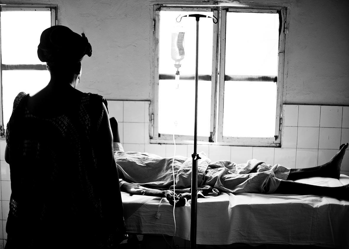 A hospital in Senegal, near Lac Rose.