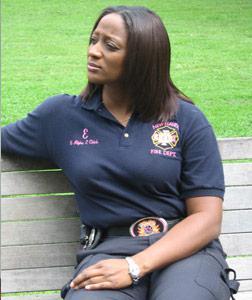 New Haven firefighter Erika Bogan.