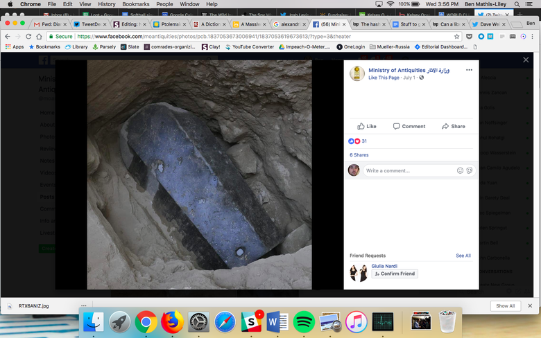 """A battered but imposing black coffin structure on an excavated rock """"srcset ="""" https://compote.slate.com/images/bf2126ab- e60e -435f-b9bf-d697a90f5164.png? width = 780 & height = 520 & rect = 689x459 & offset = 189x259 1x, https://compote.slate.com/images/bf2126ab-e60e-435f-b9bf-d697a90f5164.png?width=780&height=520&rect = 689x459 & offset = 189x259 2x"""