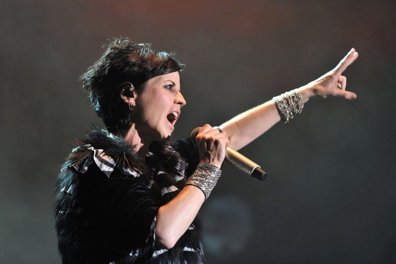 Irish singer Dolores O'Riordan of the Irish band The Cranberries performs on July 07, 2016.