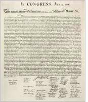 United States Declaration of Independence. Click image to expand.
