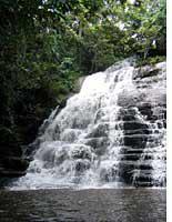 """Man's famous waterfall, """"La Cascade"""""""