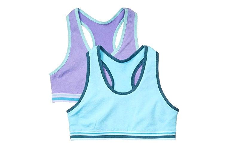Amazon Essentials girls sports bras.