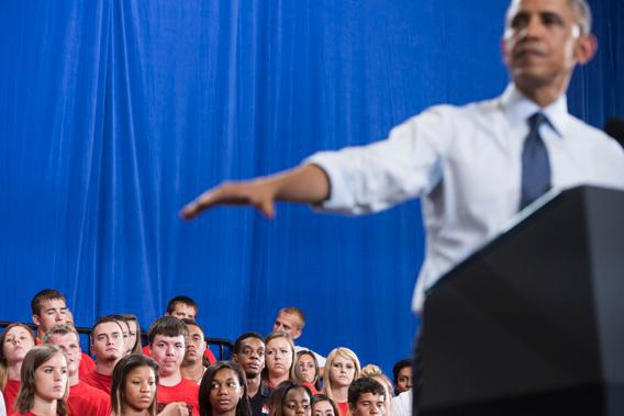 President Obama speaks at University of Central Missouri July 24, 2013 in Missouri.