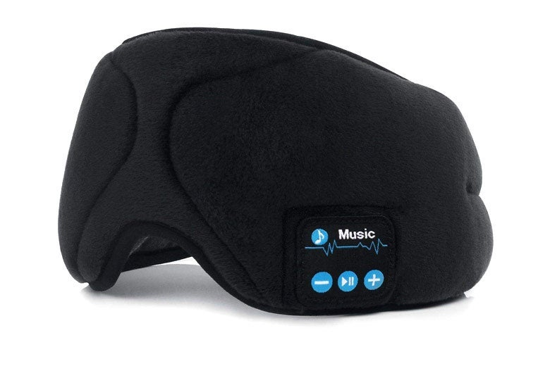 Sleeping mask with Bluetooth headphones