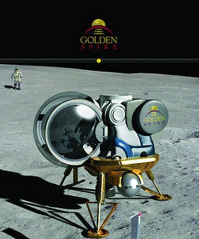 Illustration of a possible Golden Spike crewed Moon lander.
