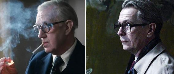 Alec Guinness from Tinker Tailor Soldier Spy (1979) and Gary Oldman from Tinker Tailor Soldier Spy (2011).