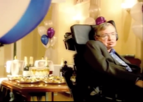 Stephen Hawking time travellers party
