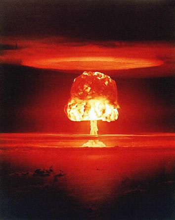 Nuclear weapon test Romeo (yield 11 Mt) on Bikini Atoll. The test was part of the Operation Castle.