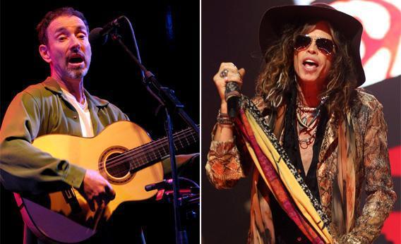 Left: Jonathan Richman of the Modern Lovers. Right: Steven Tyler of Aerosmith.