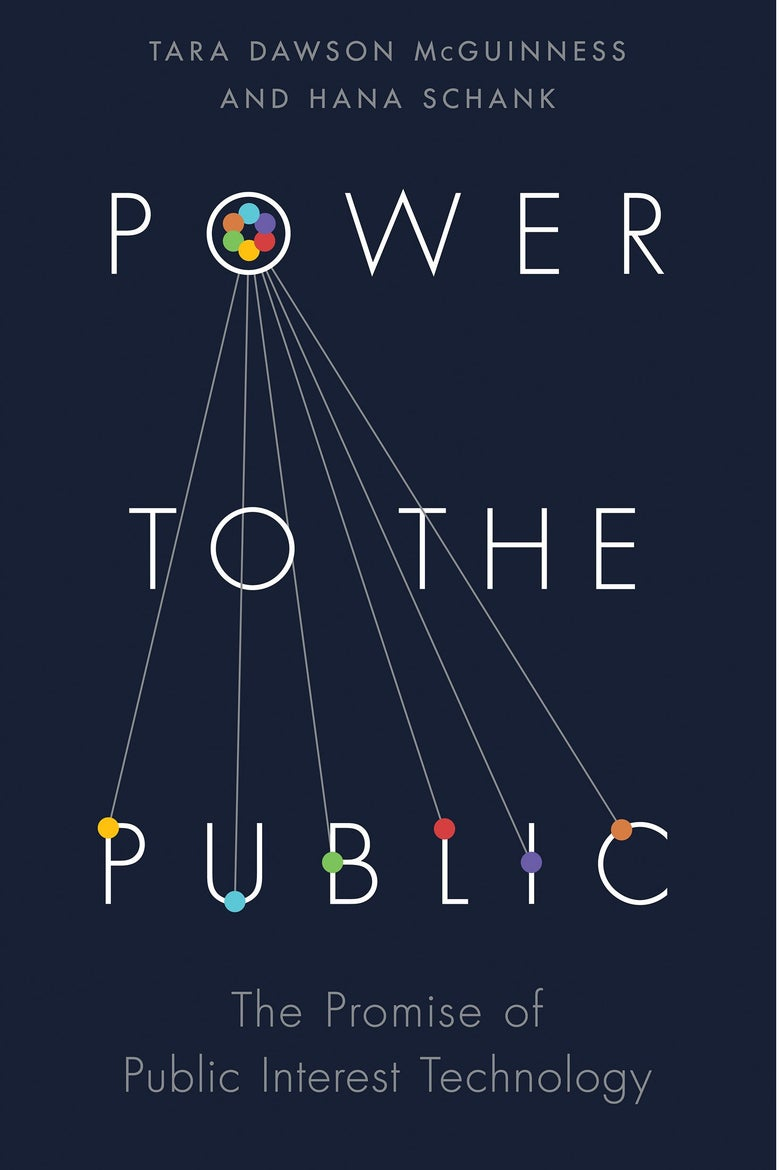 The navy blue cover of Power to the Public