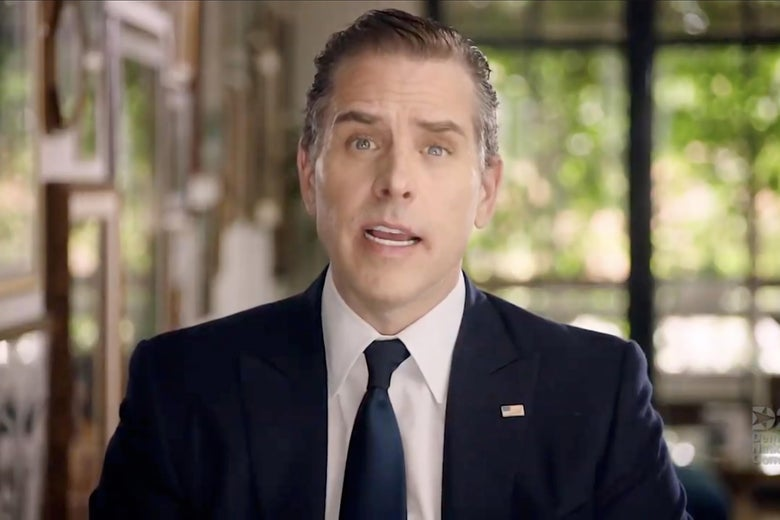 Hunter Biden addresses the 2020 Democratic National Convention.