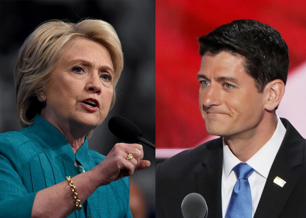 Hillary Clinton and Paul Ryan.