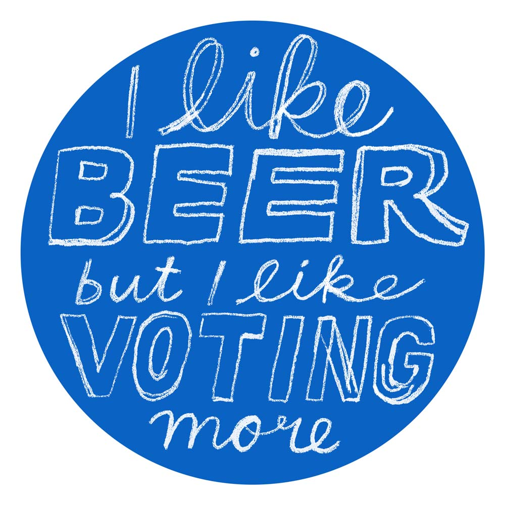 It is a photo of Lively I Voted Stickers Printable