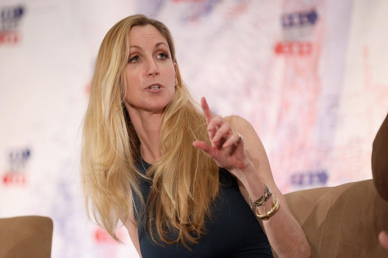 Ann Coulter speaks onstage during Politicon 2018 at Los Angeles Convention Center on October 20, 2018 in Los Angeles, California.