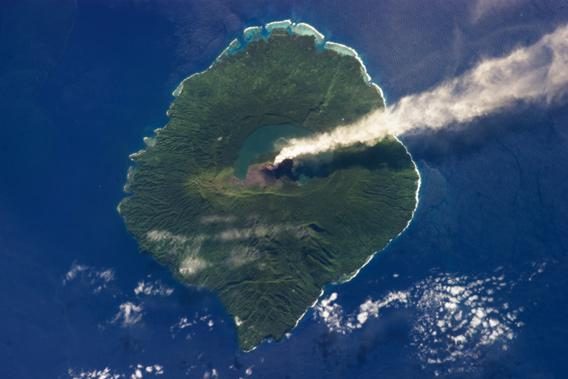 Gaua island seen from space