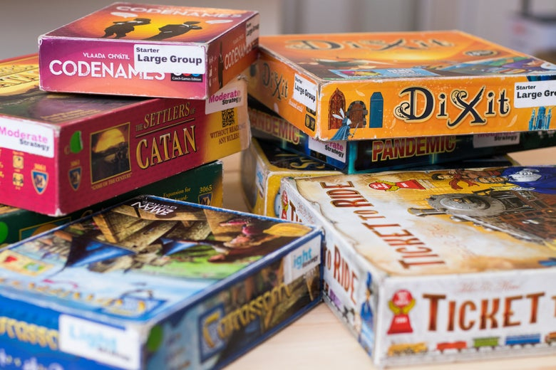 assorted board games