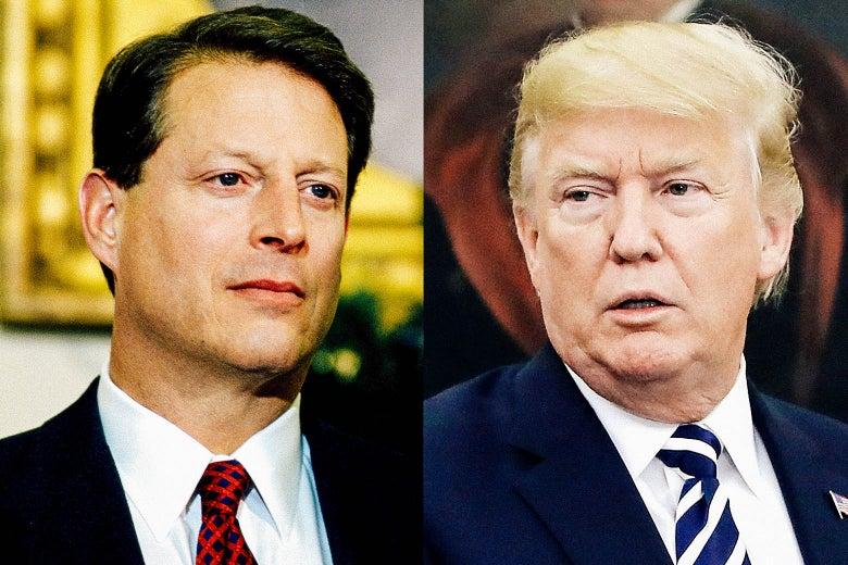 Al Gore (1996) and Donald Trump.