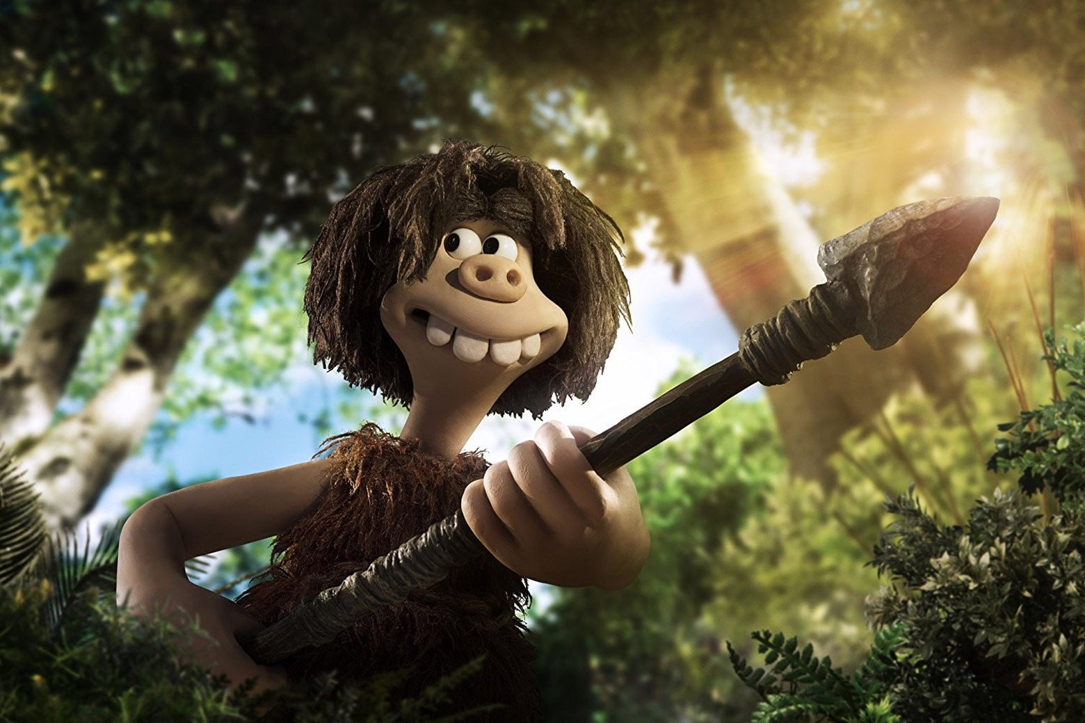 Still image from the claymation Early Man.