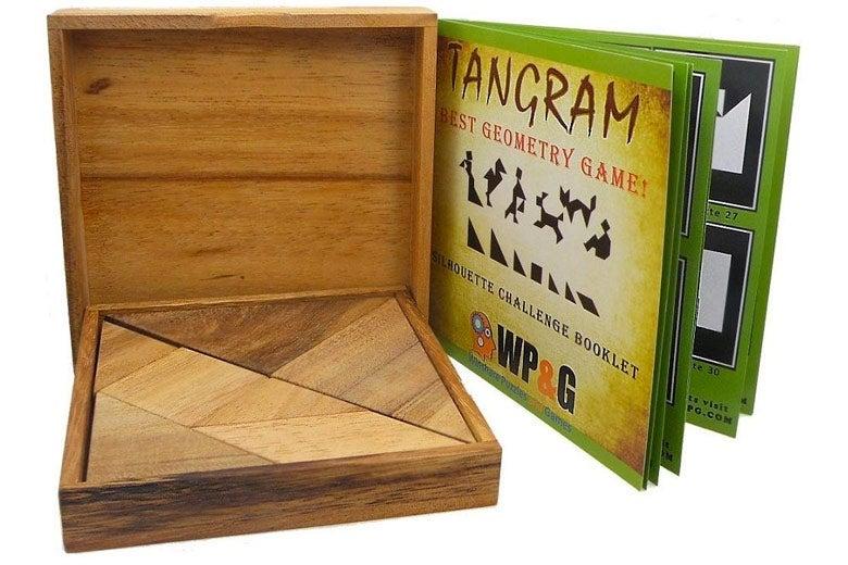 Wooden tangram.