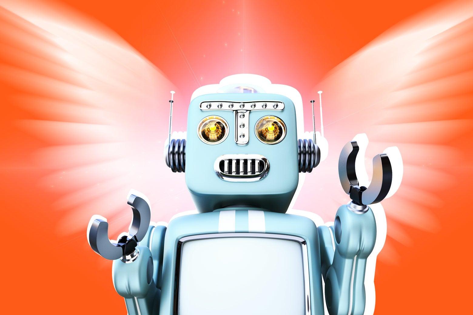 Robot angel.