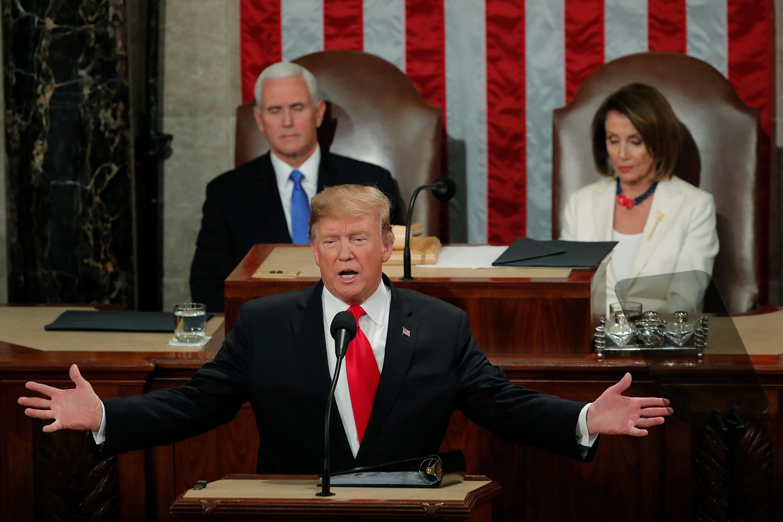 President Trump delivers his State of the Union address to a joint session of Congress on Capitol Hill in Washington, Feb. 5, 2019.