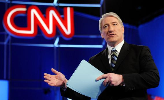 CNN correspondent John King talks to the audience.