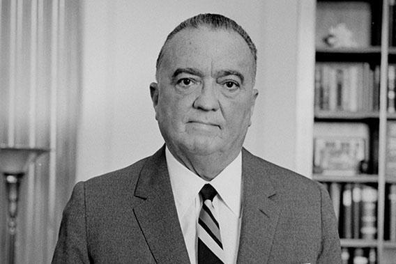 Portrait of J. Edgar Hoover taken on September 28th, 1961.