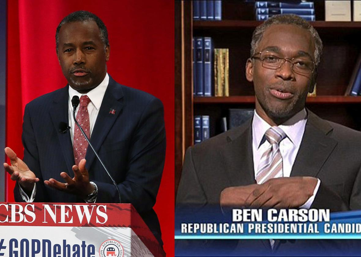 Ben Carson and Jay Pharoah.