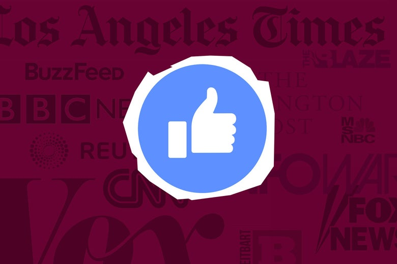 Facebook like button and news outlets