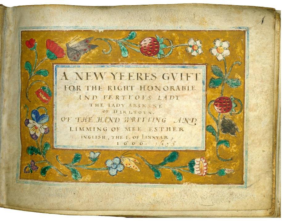 Tiny manuscript page