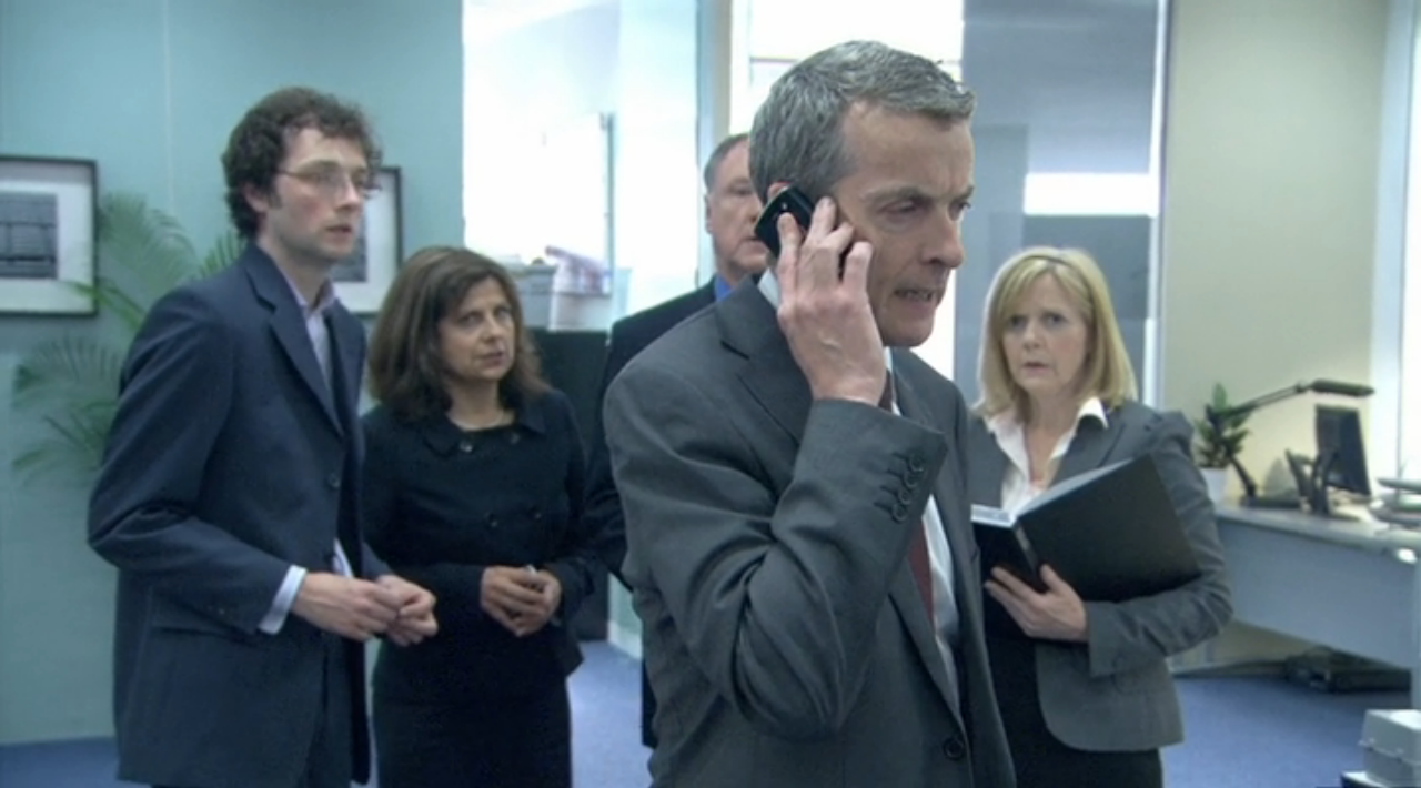 Malcolm Tucker (Peter Capaldi) in The Thick of It.
