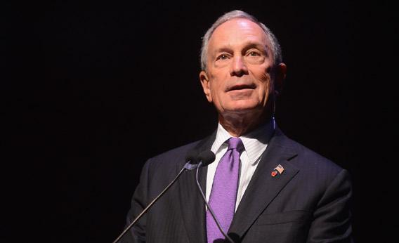New York City Mayor Michael Bloomberg speaks onstage in New York City.