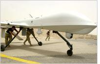 RQ-1 Predator Unmanned Aerial Vehicle at Tallil Air Base in Iraq. Click image to expand.