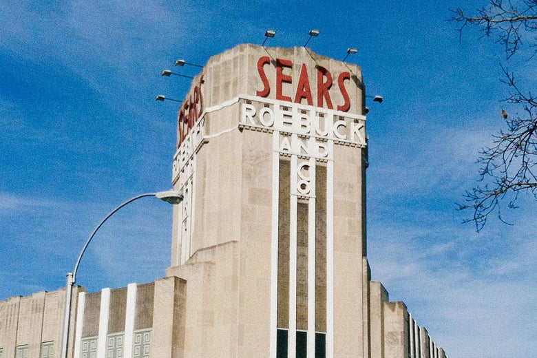 A store that says Sears, Roebuck and Co.