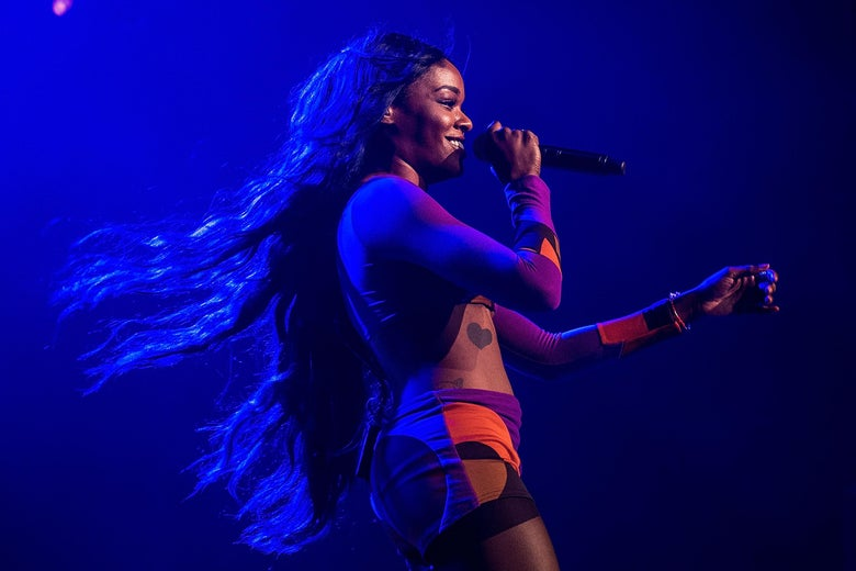 Azealia Banks performing in 2015