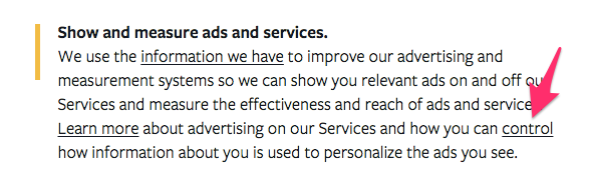 Facebook ad settings opt-out