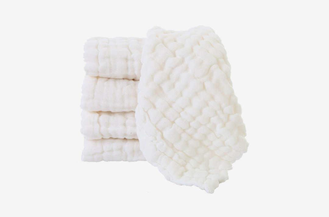 Baby Muslin Washcloths.